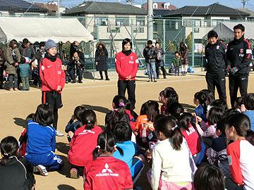 「URAWAスポーツパークJVサッカー教室」に柴田・猶本