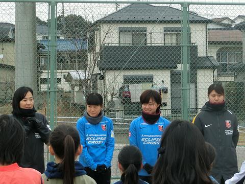 「URAWAスポーツパークJVサッカー教室」に柴田、柳澤