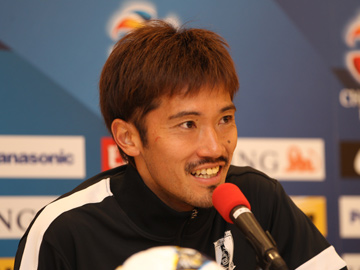 Team Manager Mischa and Abe attend official interview session before the match against Jeonbuk Hyundai Motors Football Club