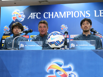 Team Manager Mischa and Abe attend official pre-match interview session