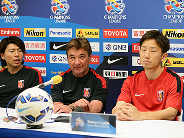 Team Manager Mischa and Ugajin attend official pre-match press conference