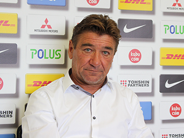 Team Manager Mischa – press conference the day before the match against Vissel Kobe