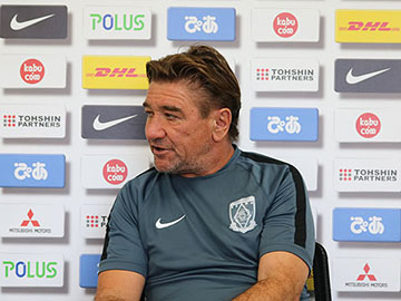 Team Manager Mischa – press conference the day before the match against Yokohama F. Marinos