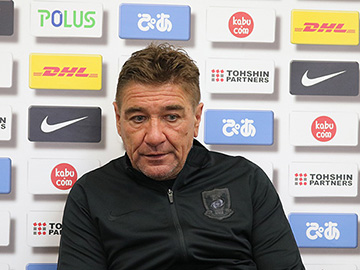 Team Manager Mischa – press conference the day before the match against FC Machida Zelvia