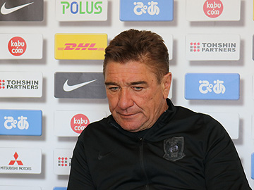 Team Manager Mischa – press conference the day before the Emperor's Cup semi-final match against Kashiwa Reysol