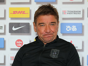 Team Manager Mischa – press conference the day before the Emperor's Cup final match against Gamba Osaka
