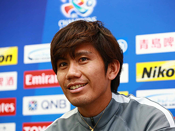 Team Manager Mischa and Player Yosuke Kashiwagi attend official interview session the day before the match against Jeju United FC