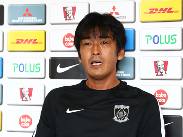 Team Manager Hori – pre-match press conference the day before the match against Ventforet Kofu