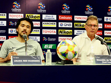 Press conference after the match against Buriram United F.C.
