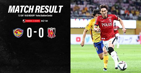 MEIJI YASUDA J1 League 21st Sec. vs Vegalta Sendai(Result)