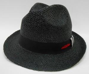 麦わら帽子ブラック