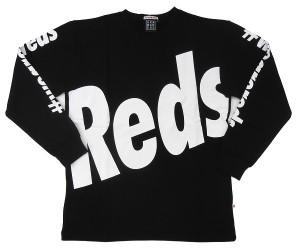 長袖クルーネックスウェット(Reds)黒