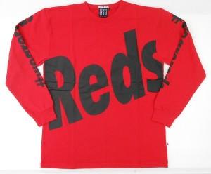 長袖クルーネックスウェット(Reds)赤