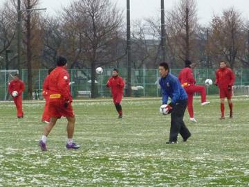 2012シーズン始動。必勝祈願の後、初トレーニング