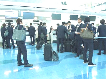 チームは無事、韓国に到着