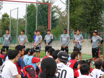 『ブラインドサッカー体験会2017』にトップチーム8選手が参加