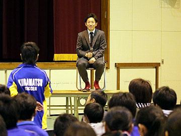 宇賀神友弥が埼玉県内の高校で講演を実施
