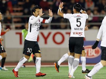 ルヴァンカップ 第1節 vs名古屋 「デビュー戦の荻原が2得点。ゴールラッシュで今季初勝利を挙げる」