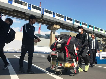 チームは無事日本に到着
