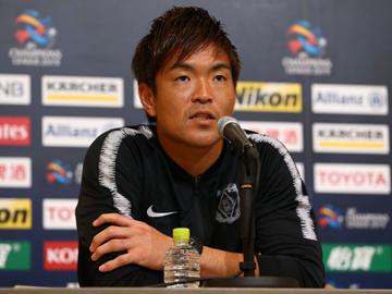 ACL 上海上港戦 試合前日公式会見に大槻 毅監督と西川が出席