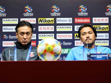 ACL 広州恒大戦 試合前日公式会見に大槻 毅監督と興梠慎三が出席