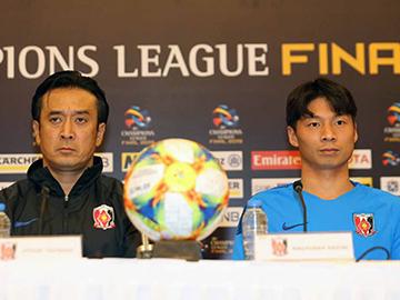 ACL アルヒラル戦 試合前日公式会見に大槻 毅監督と長澤和輝が出席