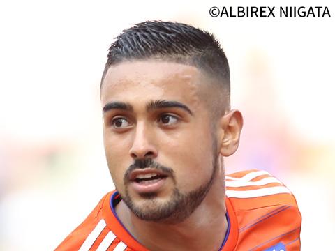 レオナルド選手、アルビレックス新潟から完全移籍加入のお知らせ
